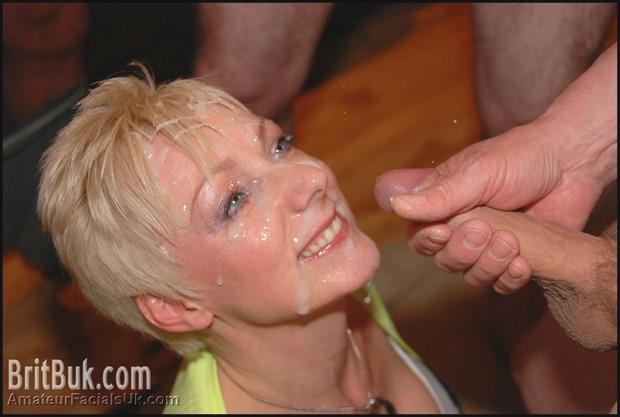 Pixie Blonde Granny Jade Takes A Cum Mask
